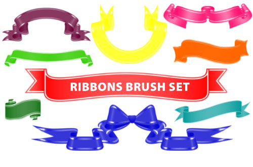 ribbons photoshop brushes