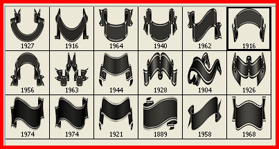 ribbon clip art Photoshop brushes