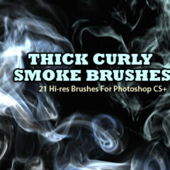 21 Thick Smoke Background Photoshop Brushes