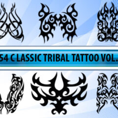 Tribal Tattoo Designs as Photoshop Brushes-Vol.2