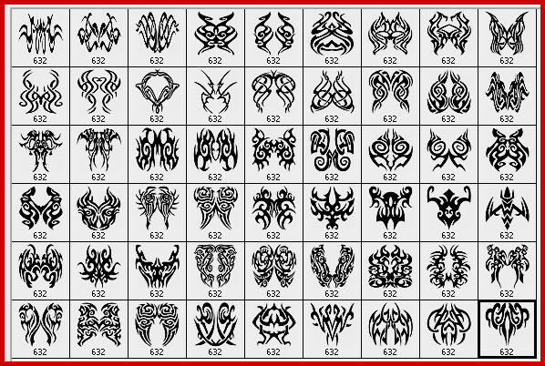 Below, you will have a preview on how the tribal tattoo designs Photoshop