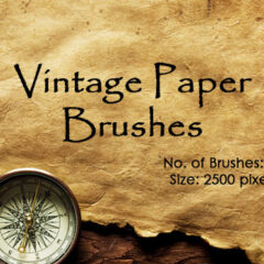 18 Vintage Papers Photoshop Brushes