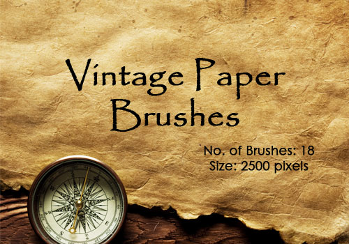 vintage papers Photoshop brushes