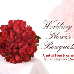 24 Lovely Wedding Flower Bouquets as Photoshop Brushes