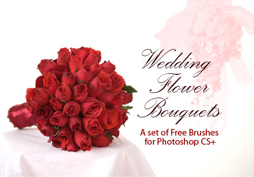 wedding flower bouquets photoshop brushes