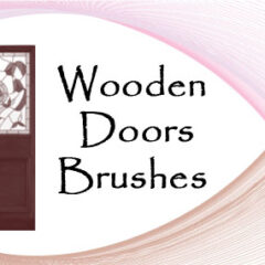 24 Wooden Doors Photoshop Brushes