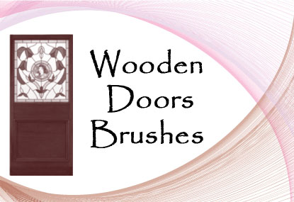 wooden doors Photoshop brushes