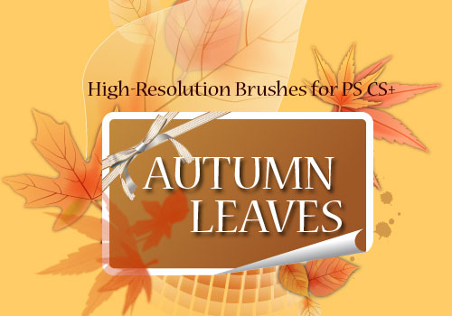 autumn leaves photoshop brushes