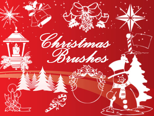 chistmas photoshop brushes