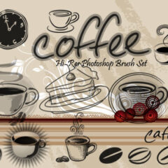 24 Coffee Clip Art Photoshop Brushes