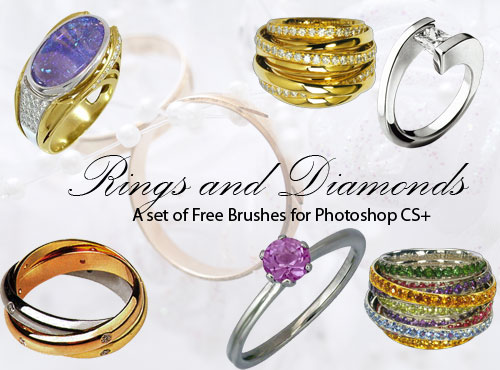 diamon engagement rings photoshop brushes
