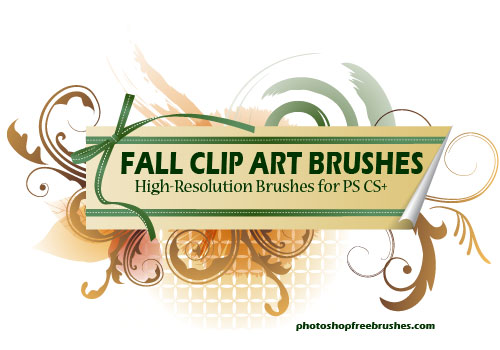 fall clip art photoshop brushes