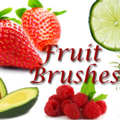 18 Hi-Res Fruit Clip Art Photoshop Brushes