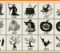 21 Halloween Clip Art Photoshop Brushes