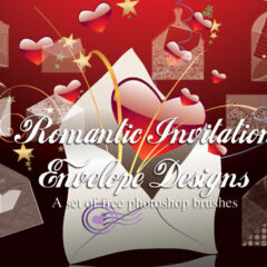 18 Invitation Envelopes Photoshop Brushes for CS+