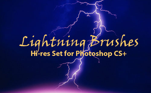 lightning strikes photoshop brushes
