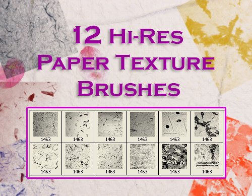 paper texture Photoshop brushes