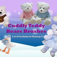 18 Teddy Bear Clip Art Photoshop Brushes