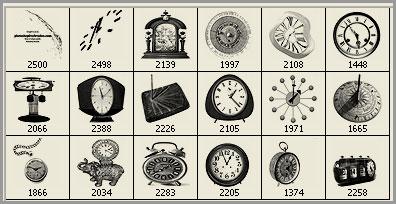 vintage clocks Photoshop brushes