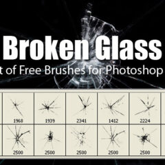 10 Broken Glass Brushes for Photoshop CS+