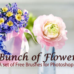 18 Bunch of Flowers: Photoshop Brushes for CS+