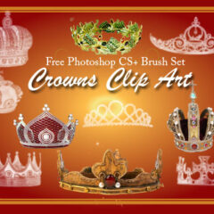 24 Crown Clip Art Photoshop Brushes Part 2