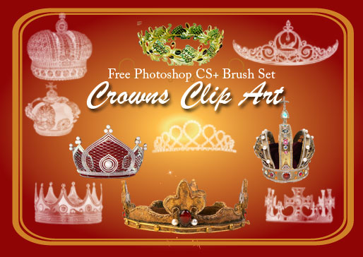 crown clip art photoshop brushes