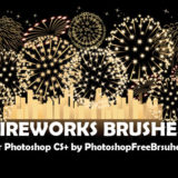 18 Fireworks Picture Brushes for Photoshop CS+