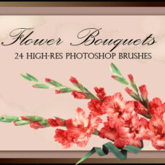 24 Flower Bouquets: Photoshop Brushes for CS+