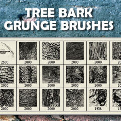 Grunge Brushes: 18 Tree Bark Textures