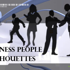 21 Business People Silhouettes As Photoshop Brushes