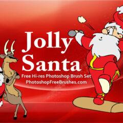 15 Santa Pictures: Photoshop CS Brush Set
