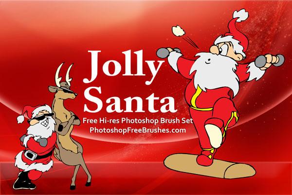 santa pictures brushes