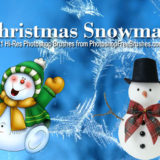 21 Christmas Snowman Brushes for Photoshop CS+