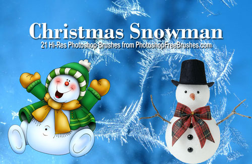 christmas brushes-snowman