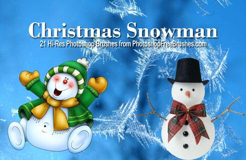 christmas brushes-snowman