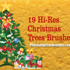 19 Christmas Tree Clip Art Photoshop Brushes