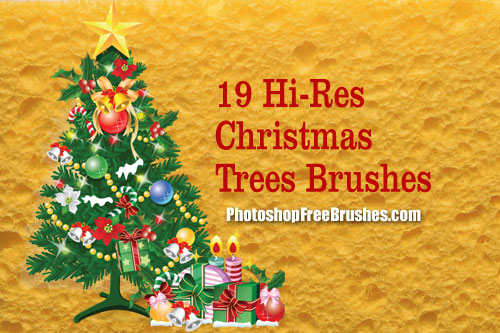 christmas trees clip art photoshop brushes