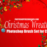 16 Christmas wreaths Photoshop brushes