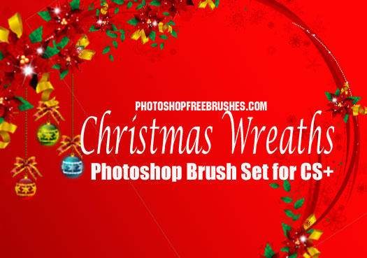 christmas wreaths photoshop brushes