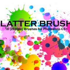 18 Grunge brushes: Splatter Brushes
