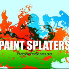 15 Grunge Brushes-Big Splatters