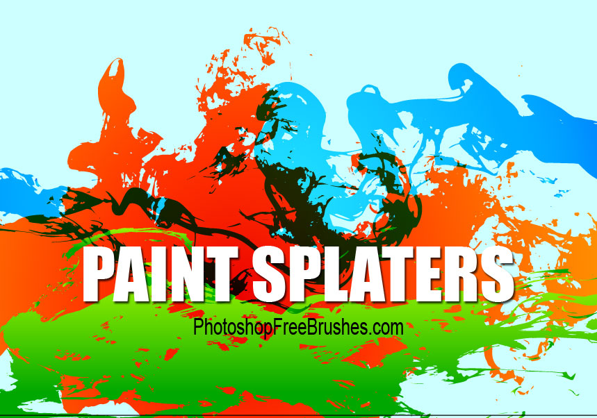 grunge splatters photoshop brushes