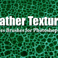 10 Leather Textures Photoshop Brushes