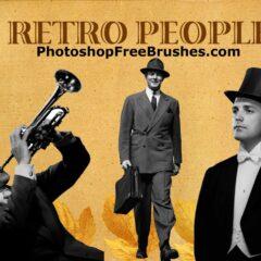 20 Retro People (Men) Photoshop Brushes