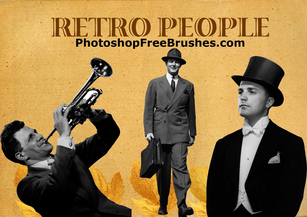 retro people men photoshop brushes