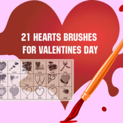 Valentine Clip Art Volume I: 20 Photoshop Brushes