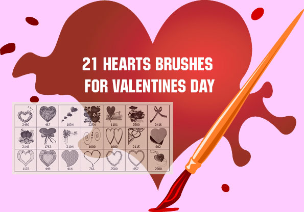 Thus, we assume that these Valentine clip art Photoshop brushes work with