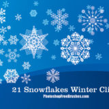 21 Winter Clip Art Photoshop Brushes