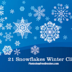 21 Winter Clip Art Photoshop Brushes